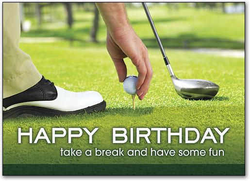 Happy Birthday Golf Folding Card
