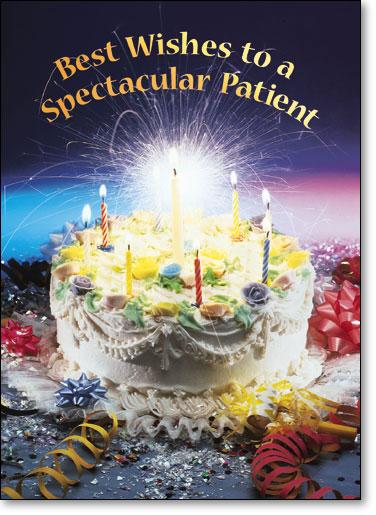 Sparkler Cake Birthday Postcard