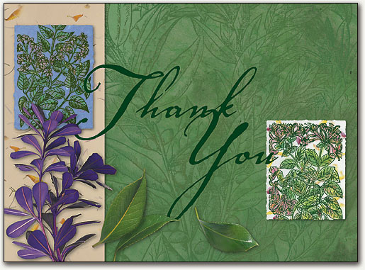 Botanical Thank You Postcard SmartPractice SharperCards