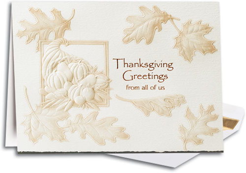 Variety of holiday cards to send to clients smartpractice sharpercards cornucopia premium folding card m4hsunfo