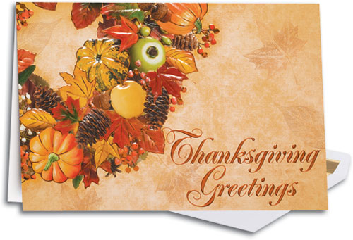 Let your clients know you are grateful for them with personalized thanksgiving greetings premium large folding card m4hsunfo